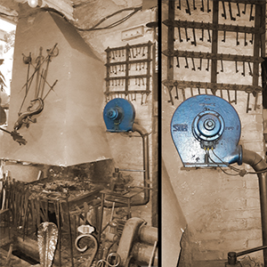 Casals MA fan installed in traditional forge