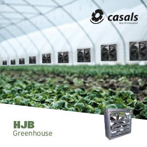 greenhouse ventilation with HJB fan from Casals Ventilacion